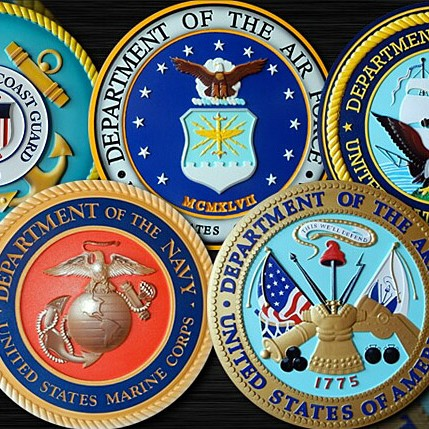 Seals of the US military branches