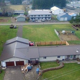 Sarges Veteran Housing in Forks, Wa (drone photo: Bob McIntyre)